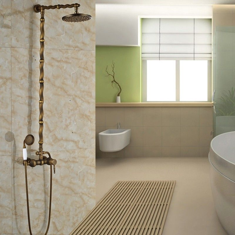 $150.60 | Buy Best Quality Single Lever In Wall Rainfall Brass Shower Set  Faucet Brass Antique
