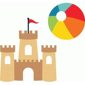 Sand Castle Beach Ball With Images Silhouette Design Castle