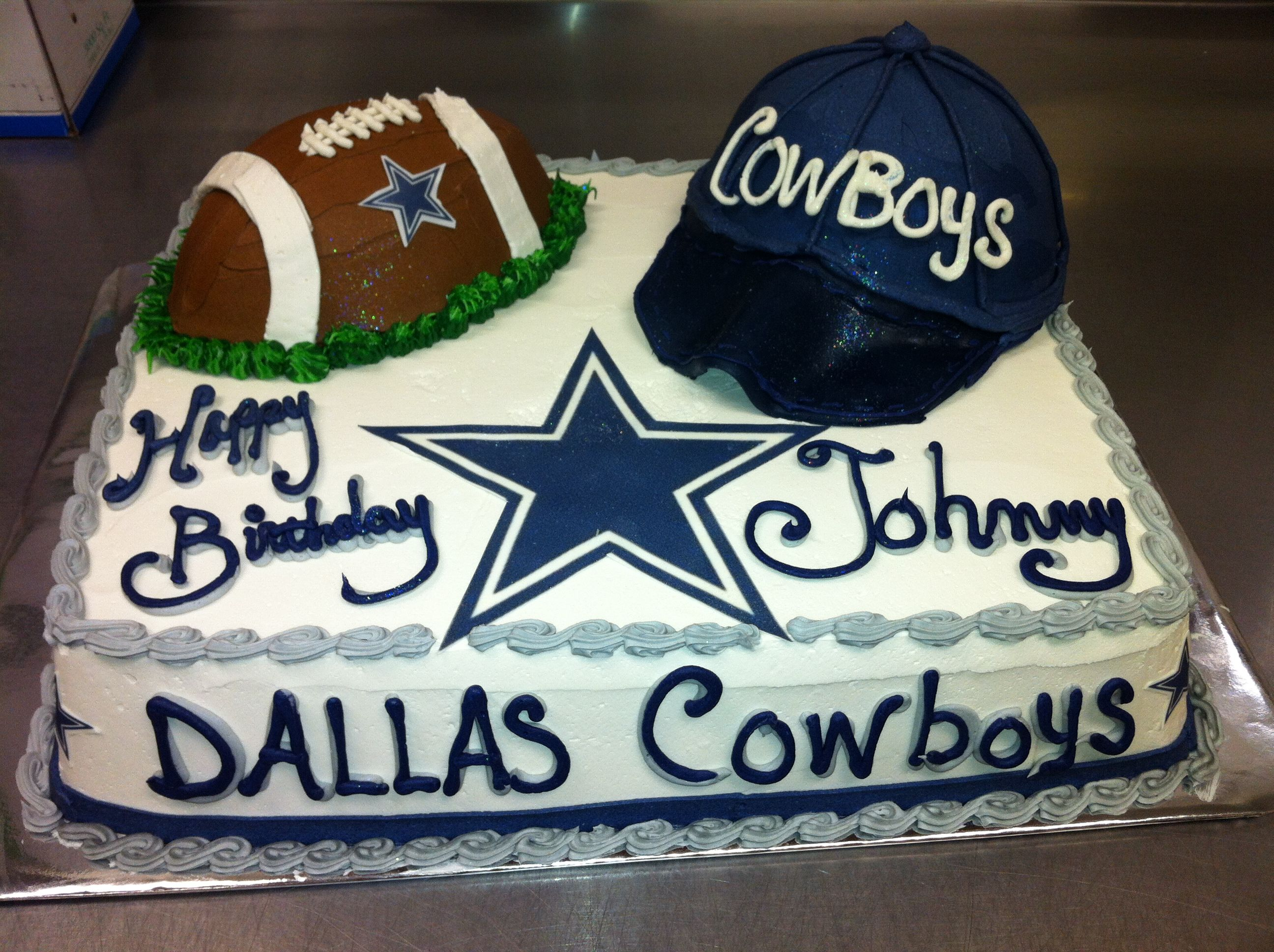 Dallas Cowboy football fan cake Sports cakes Pinterest