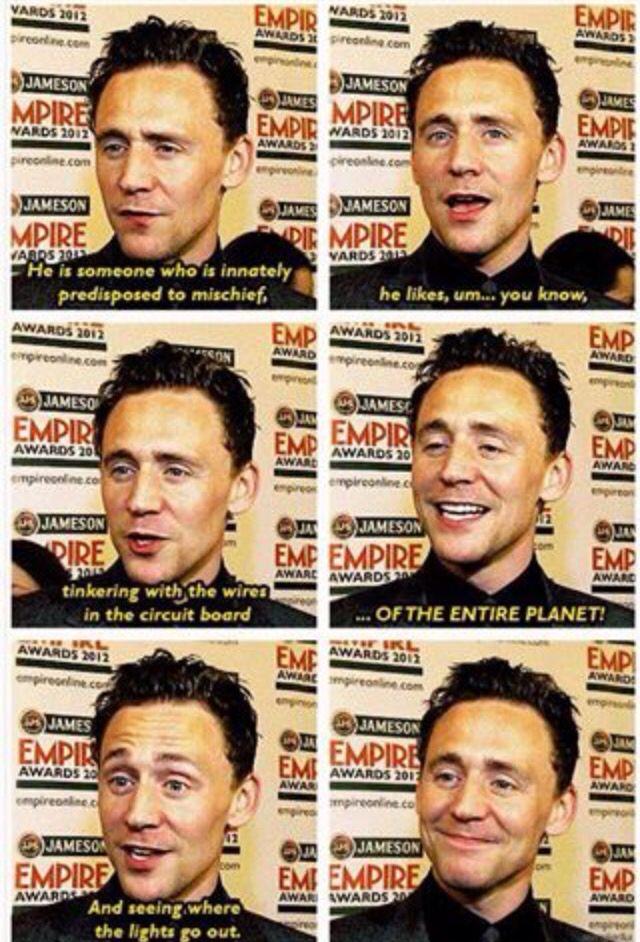 Loki by Tom Hiddles.