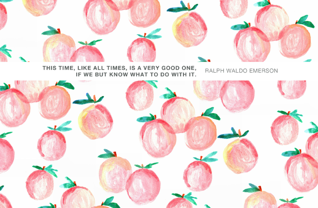Pretty Peach Desktop Computer Wallpaper Background With A Positive Motivational Quote