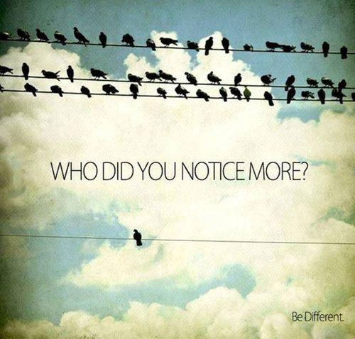 群れているってことに気づいたのかな。 Be yourself! bird, quote, and different image