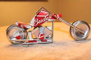 Superior Budweiser Motorcycle Aluminum Can Folk Art Chopper Beer Craft Show Aluminum Can Crafts Aluminum Can Soda Can Art