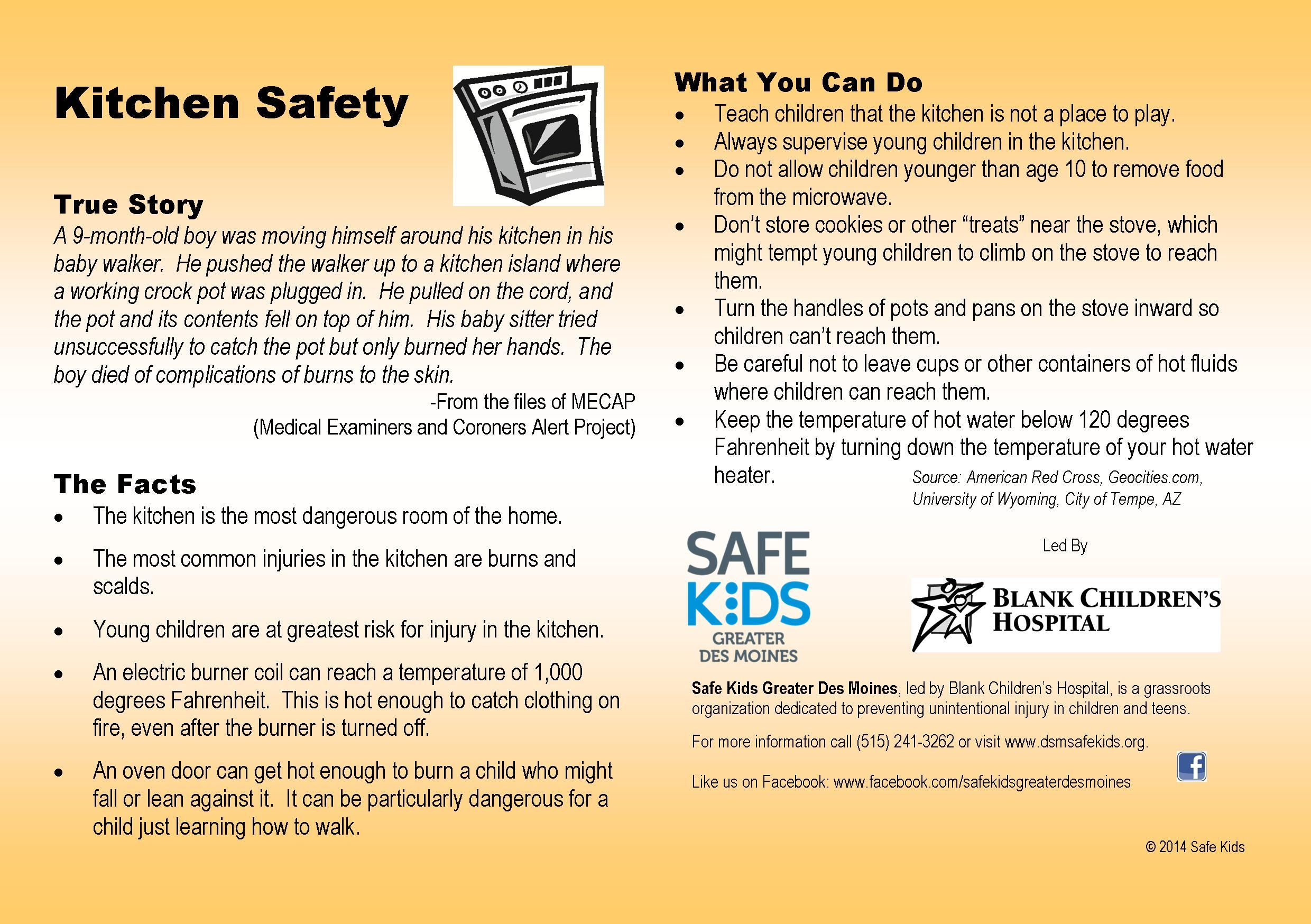 Kitchen Safety Tips With Images
