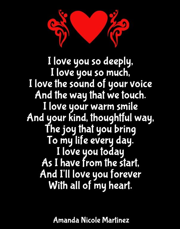 I Love You With All My Heart Quotes Cool Why I Love You Poems For Her  Quotes  Pinterest  Poem