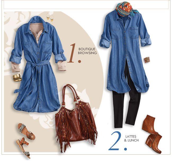 Pin by Paula Rosenthal on Fall Fabulous 2 | Denim dress outfit ...