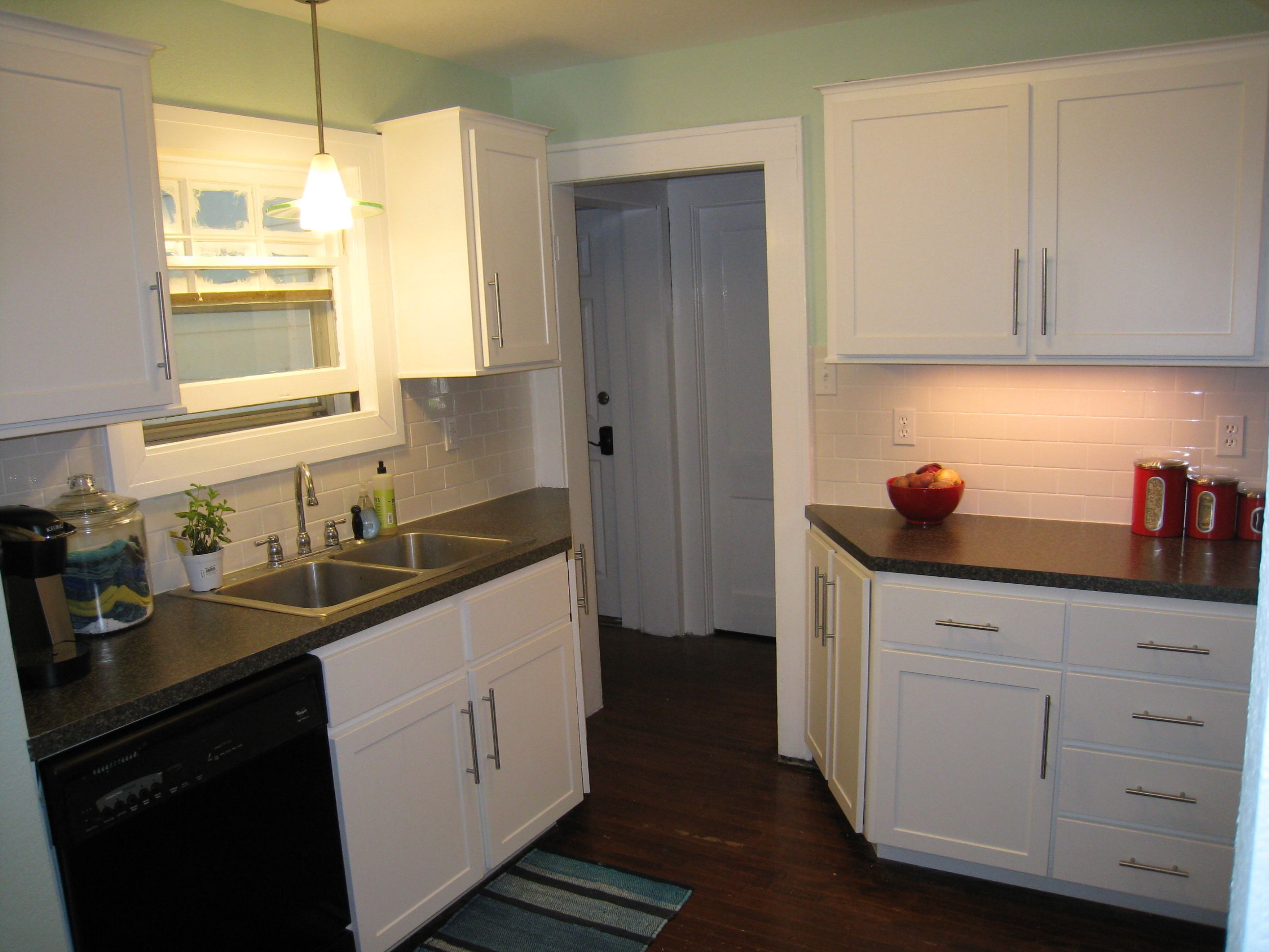 Reface Kitchen White Mission Style Doors Black Formica Tops Stainless Handles Sink Kitchen Tune Up Wichita Ks 316 Home Kitchens Kitchen Cabinet Styles
