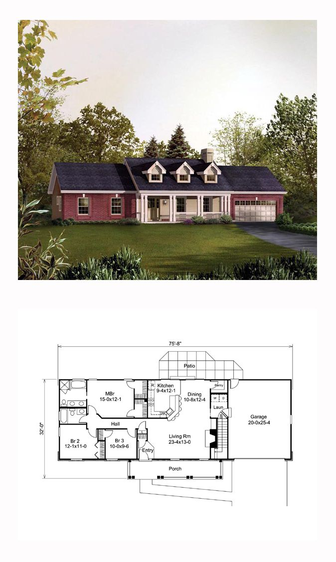 Traditional Style House Plan 95830 With 3 Bed 2 Bath 2 Car Garage Small Bedroom Remodel House Plans Guest Bedroom Remodel