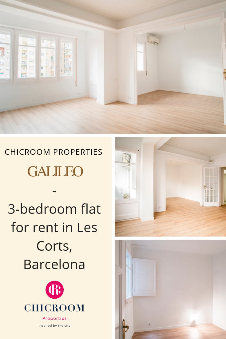 3 Bedroom Flat For Rent In Les Corts Barcelona Galileo Flat Rent 3 Bedroom Flat Renting A House