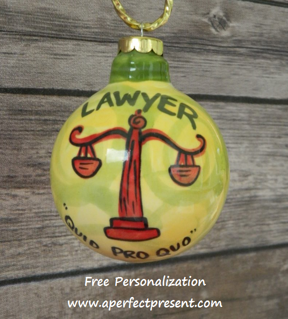 Lawyer Ornament | Personalized Christmas Ornaments! | Pinterest ...