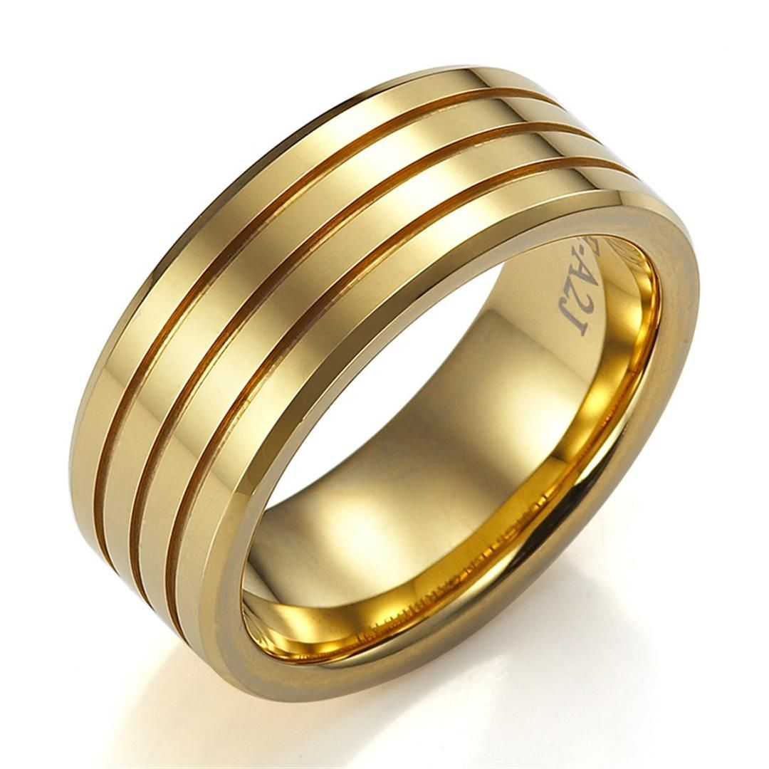 ring cheap men gold wedding bands - Mens Wedding Rings Gold