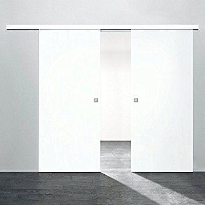 2 flügelige Holz-Schiebetür Raumteiler 1760x2035mm Holz Weiß - innenturen aus holz schiebeturen