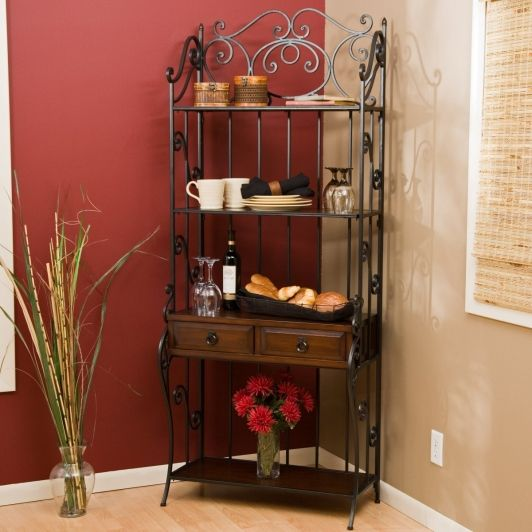 Classic Scroll Bakers Rack Home And Garden Design Ideas Bakers