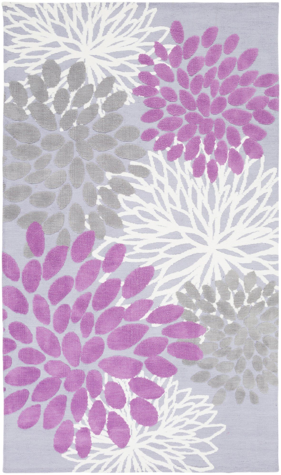 8 X 11 Large Floral Purple And Gray Kids Area Rug Abigail In 2020 Floral Area Rugs Kids Area Rugs Kids Rugs