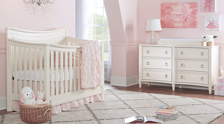 Jaclyn Place Ivory 4 Pc Nursery Room Sets Light Wood