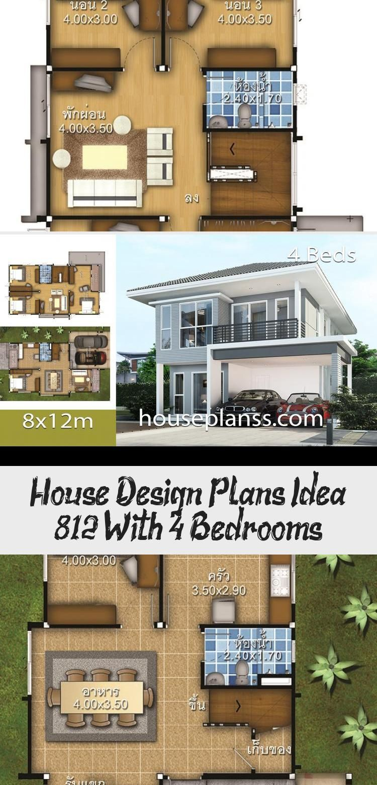 House Design Plans Idea 8x12 With 4 Bedrooms Home Ideassearch Floorplans4bedroomwraparound Floorplans4b In 2020 Home Design Plans 4 Bedroom House Plans House Plans