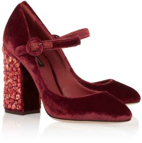 cfa32210cdae Love this  DOLCE   GABBANA Vally Crystalembellished Velvet Pumps  Lyst