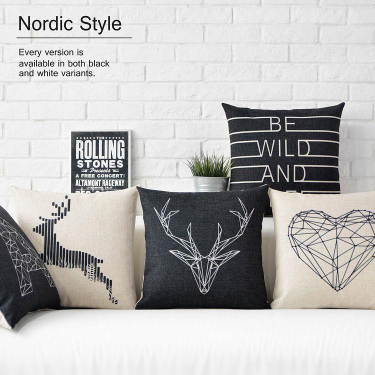 encontrar ms cojines informacin acerca de envo libre blanco y negro simplicidad geomtrica nrdicos ciervos