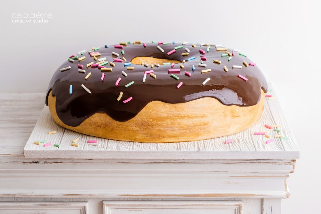 Donut Shaped Birthday Cake On Satinice