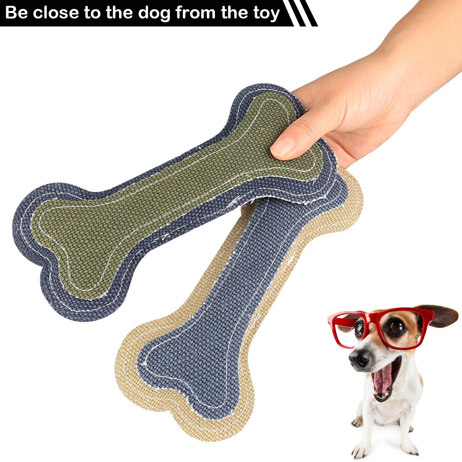 Airsspu Dog Chew Toys Interactive Durable Dog Squeaky Bone
