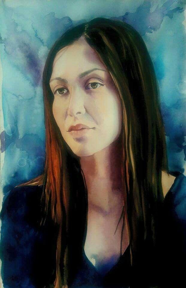 Jen- by Malorie Anderson- watercolor