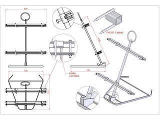 Plano parrilla a la estaca formato asador barbacoa for Planos barbacoa
