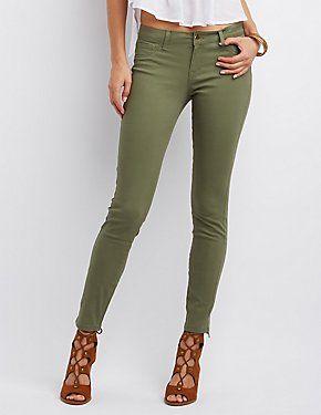 Refuge Skin Tight Legging Colored Jeans #CharlotteLook