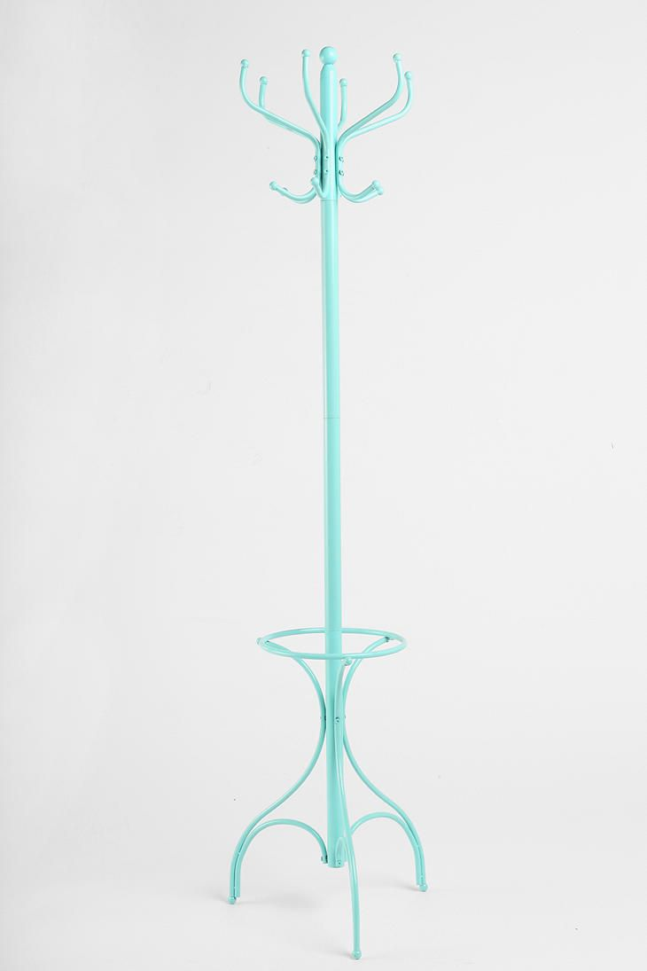 Coming And Going Coat Rack, this aqua color would look ...