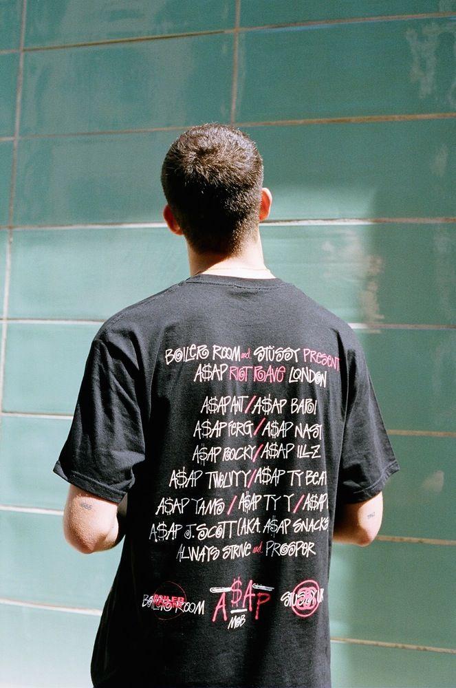 71207981ece Boiler Room x Stüssy - A AP Mob Riot Rave London Tee