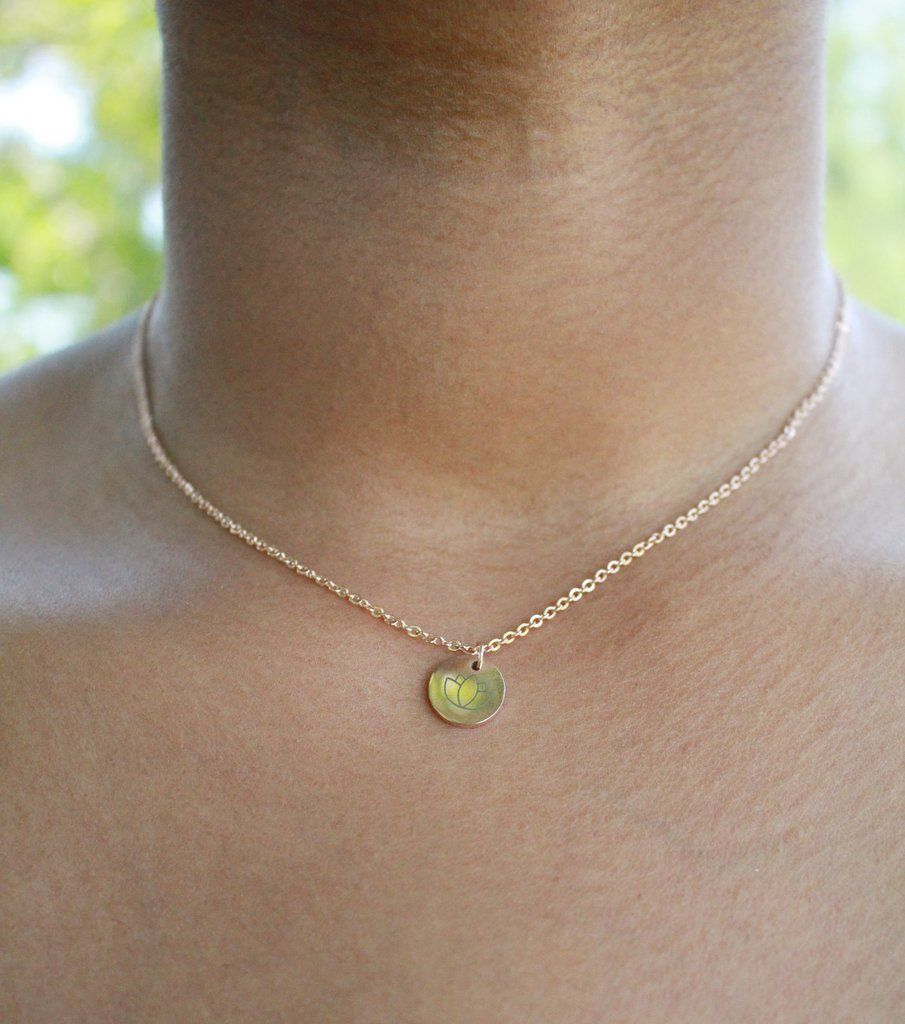 Lotus flower necklace at