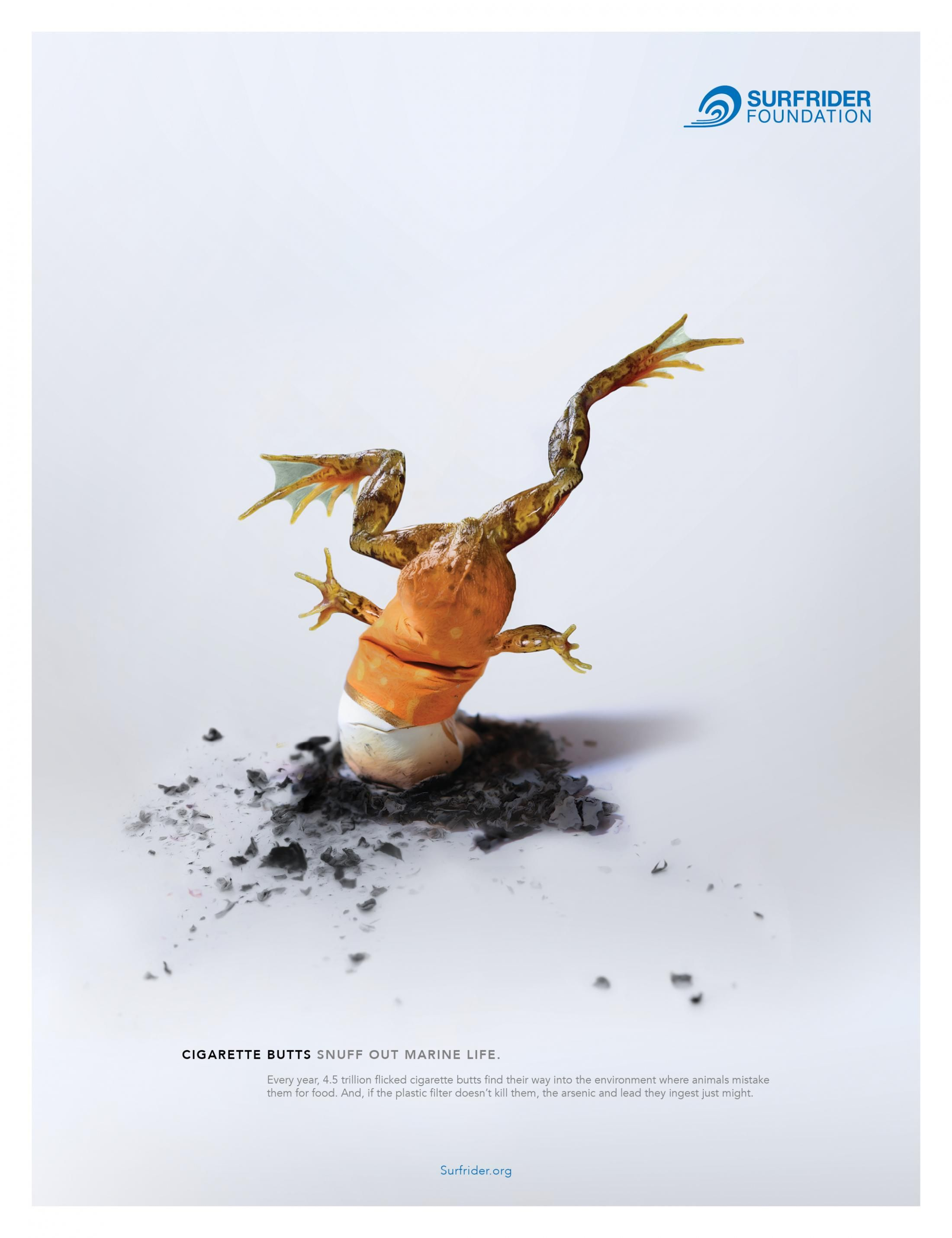 Surfrider Foundation Print Ad - Snuffed Out Marine Life, 2 ...