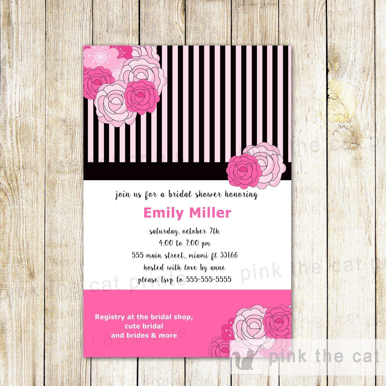 Roses bridal shower invitation card romantic wedding pink the cat roses bridal shower invitation card romantic wedding pink the cat filmwisefo Choice Image