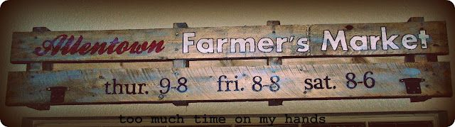 """Old"" Farmer's Market Sign from pallet; paint pen #oldpalletsforcrafting"
