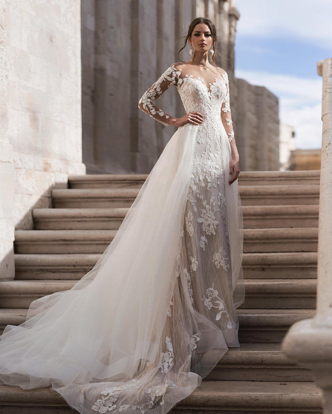 Blunny On Instagram The Blunny Sensation The Original Dress Brenda 20024 Covered With Detachable Train Wedding Dress Online Wedding Dress Wedding Dresses [ 1349 x 1080 Pixel ]