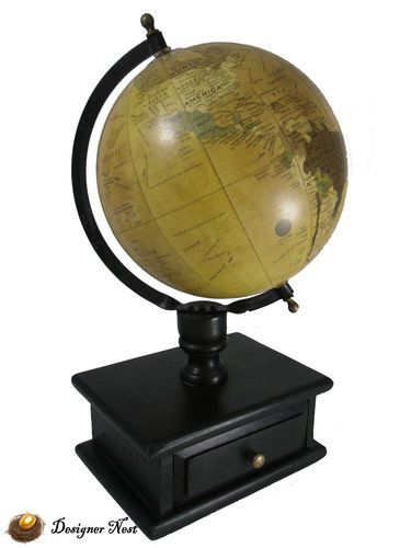 Vintage antique style old world map globe decorative w storage vintage antique style old world map globe decorative w storage drawer 155 ebay gumiabroncs Gallery