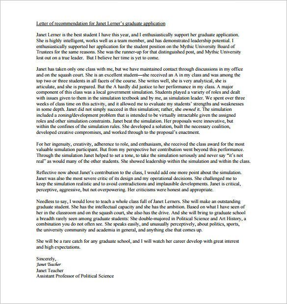 letter of recommendation for high school student letters of recommendation pinterest school student and high school students