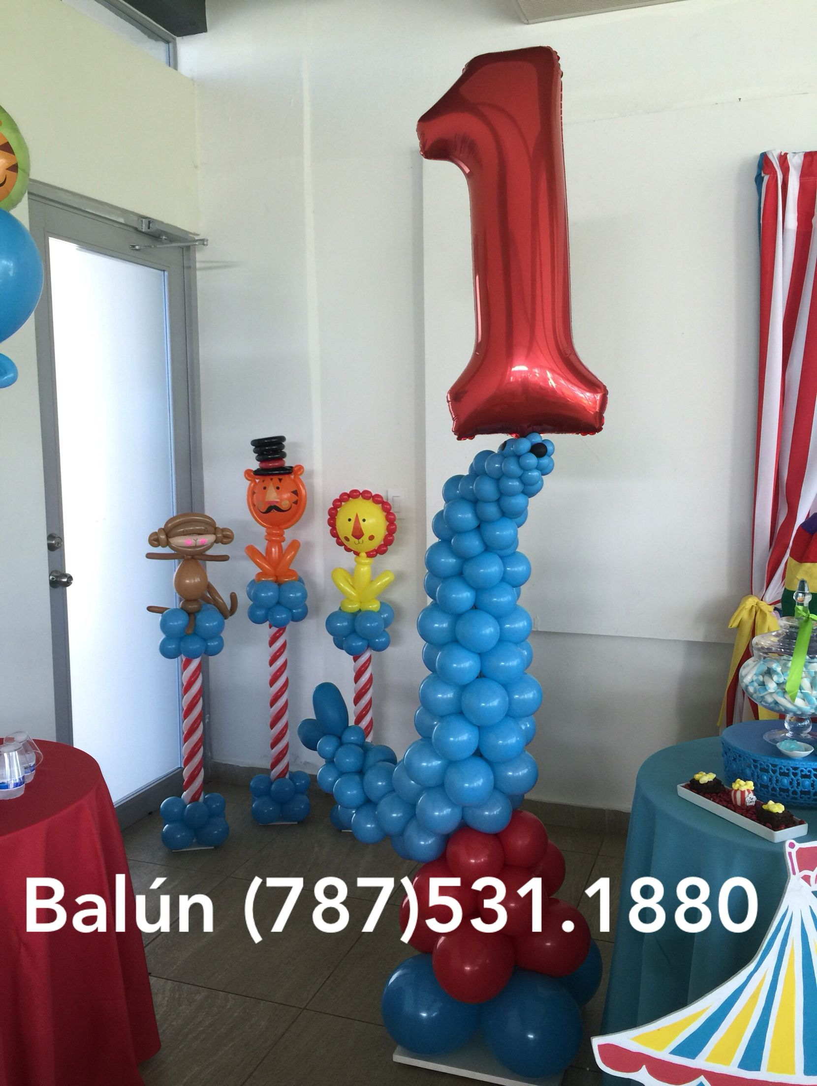 Fisher price circus theme balloons birthday