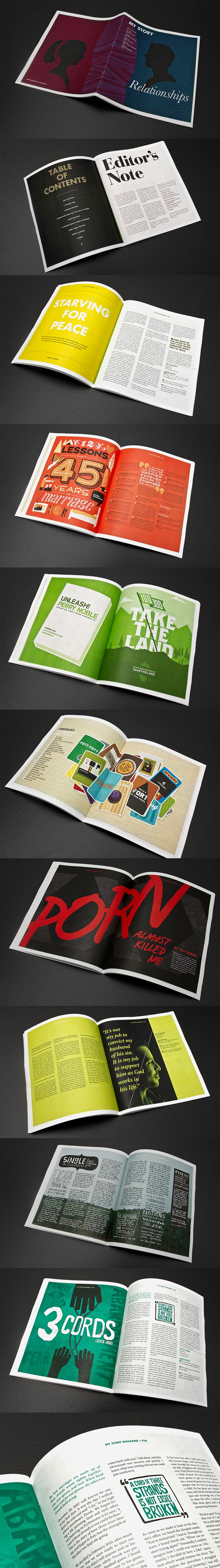 Magazine Layout by Dave Keller #layout