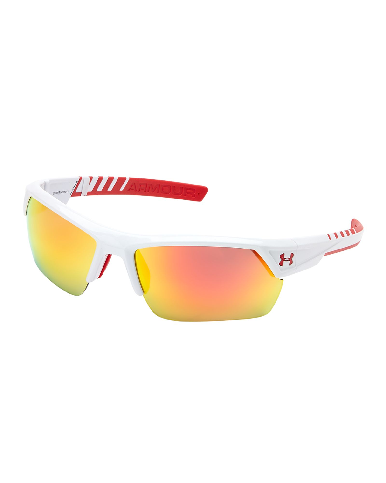 46417028668 Under Armour White   Red Igniter 2.0 Wrap Around Sunglasses ...