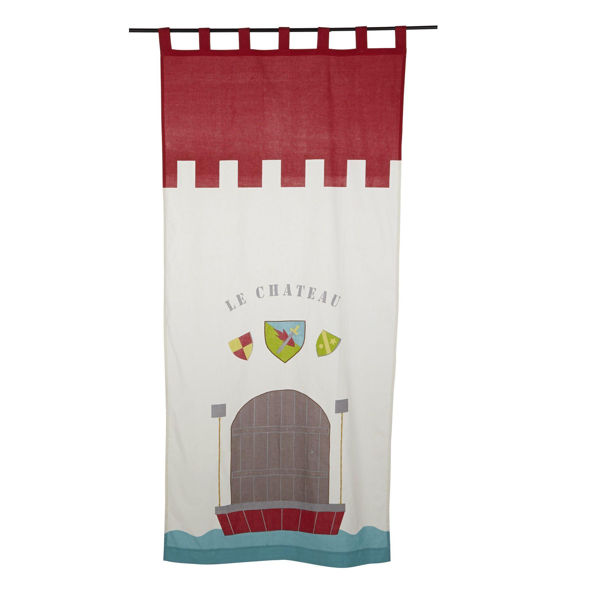 rideau pattes 110x250cm multicolore chevalier. Black Bedroom Furniture Sets. Home Design Ideas