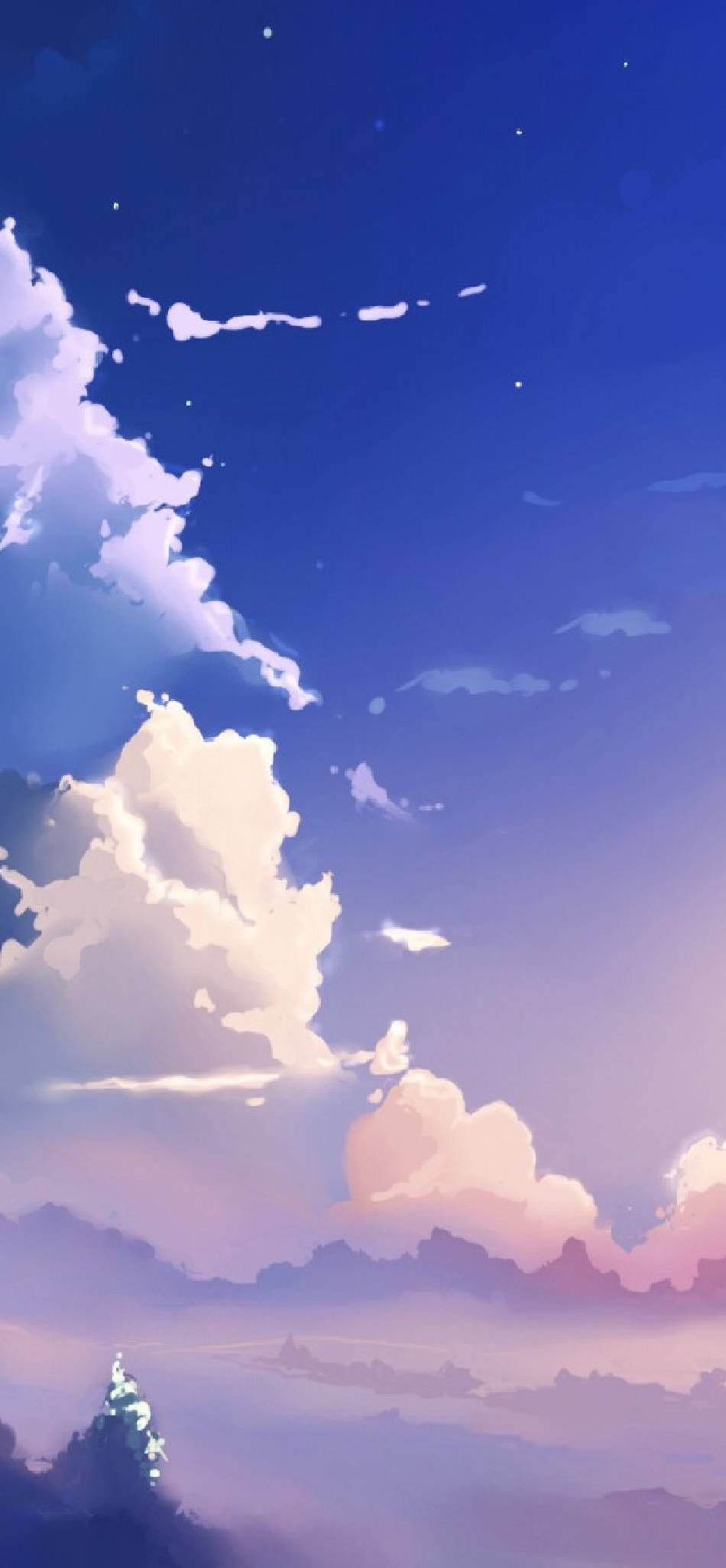 Anime Sky Sky Anime Landscape Paintings Baby Blue Wallpaper Aesthetic anime clouds wallpaper