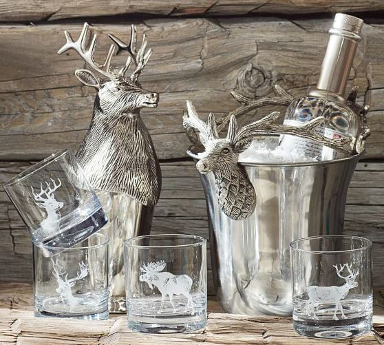 Stag Barware Collection In 2020 Pottery Barn Christmas