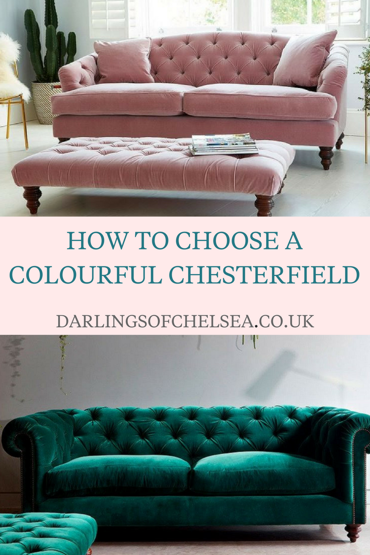 Coloured Chesterfield Sofas Darlings Of Chelsea Interior Design Blog Modern Sofa Living Room Living Room Sofa Design Chesterfield Sofa