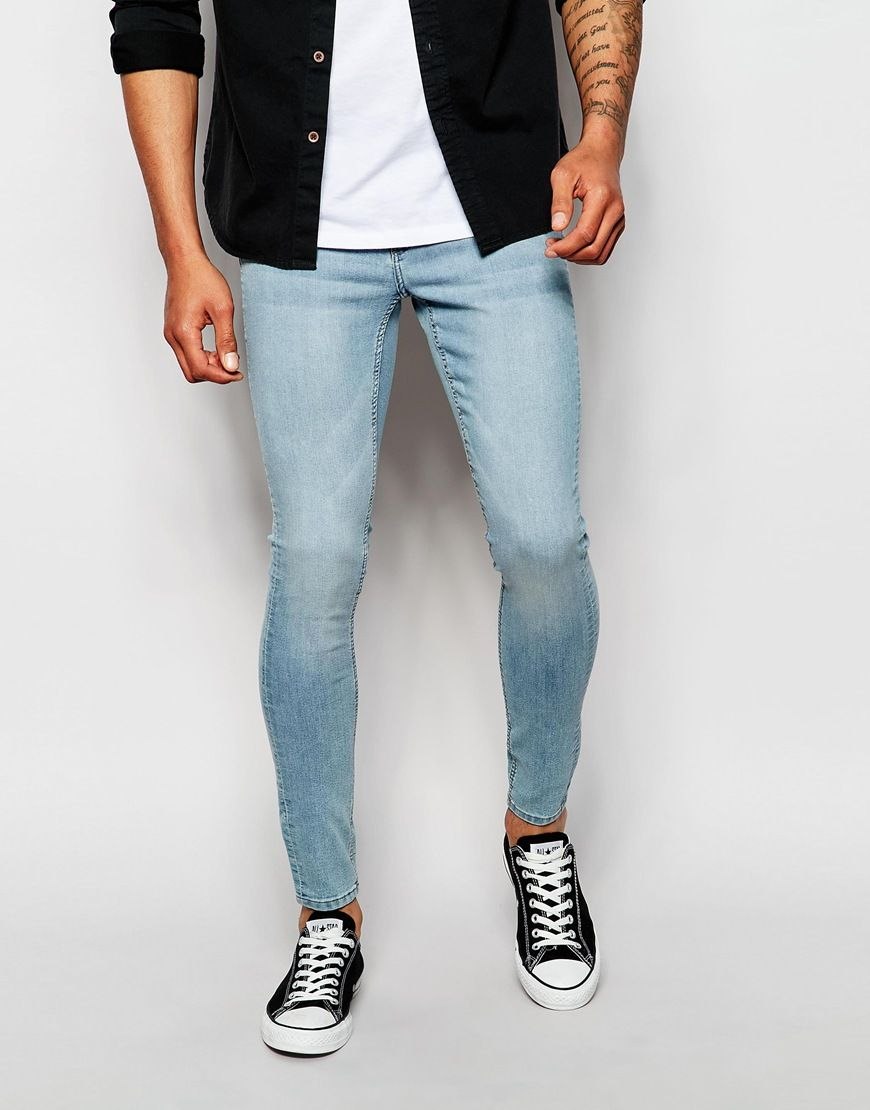 Cheap Monday Jeans Mid Spray Extreme Skinny Fit Stone Bleach