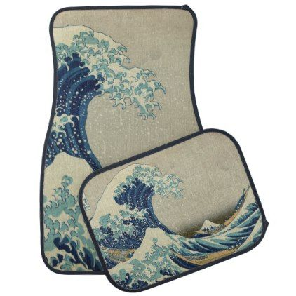 Japanese Great Wave off Kanagawa by Hokusai Car Mat ...