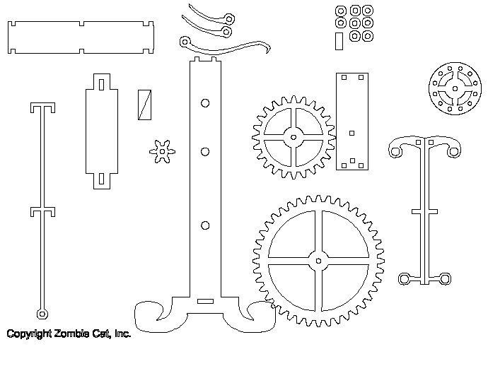 galileo's pendulum clock by zombiecat - thingiverse
