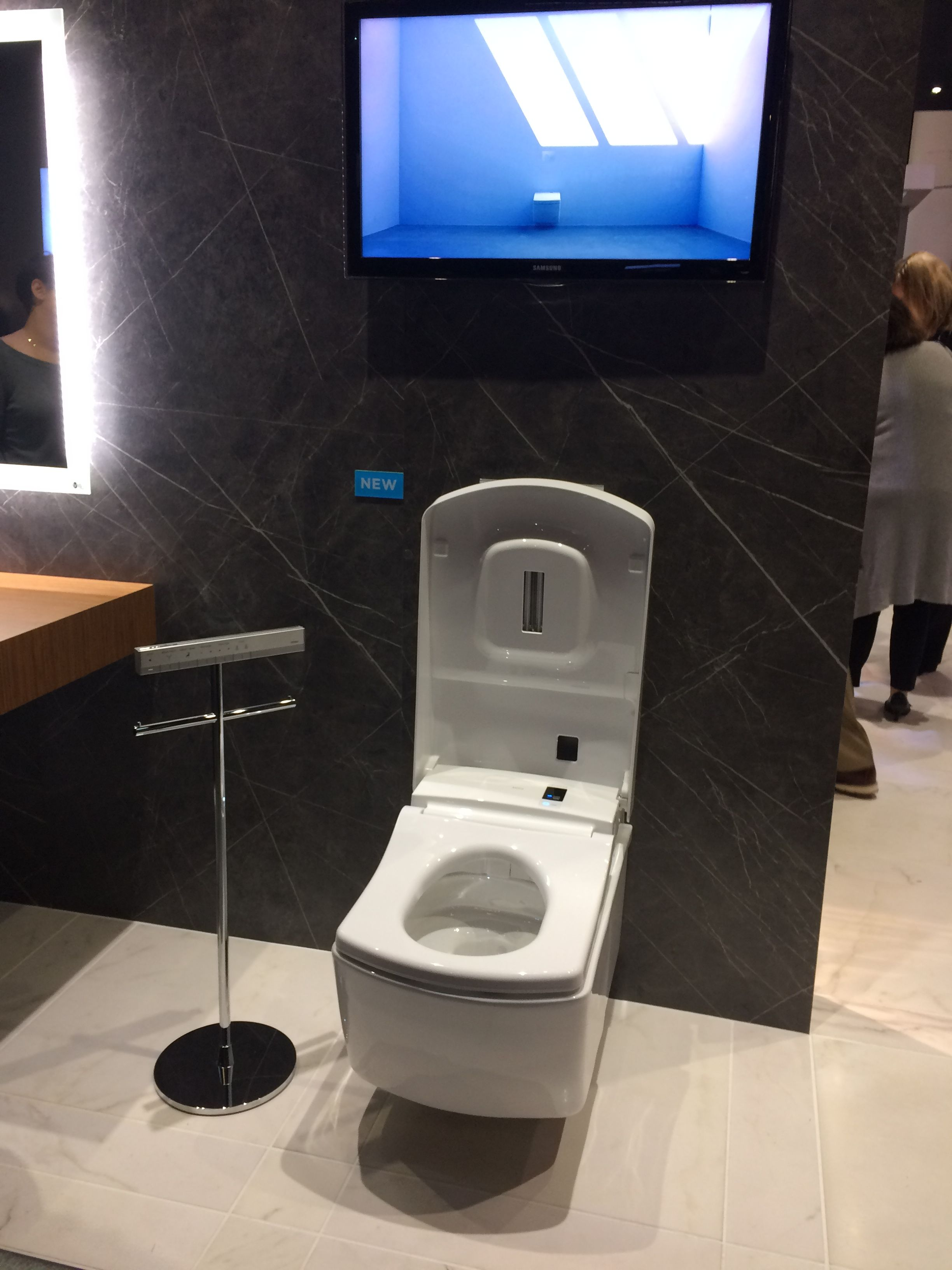 The Neorest AC wall hung toilet from @totousa is pure luxury ...