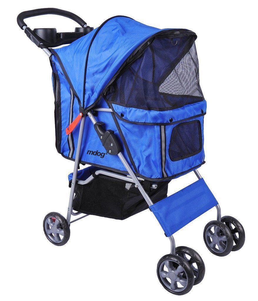 MDOG2 4Wheel Front & Rear Entry MK0034 Pet Stroller (Blue