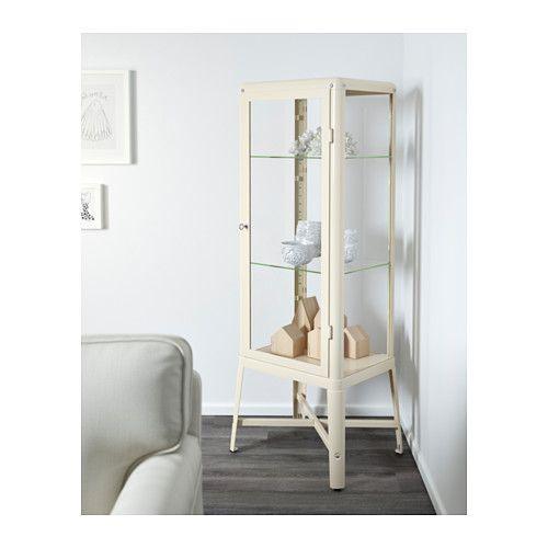 FABRIKÖR Vitrineskab - beige - IKEA