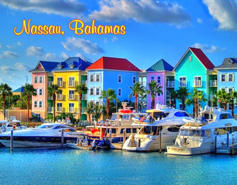 3 25 Bahamas Nassau Bright Color Houses Flexible Fridge
